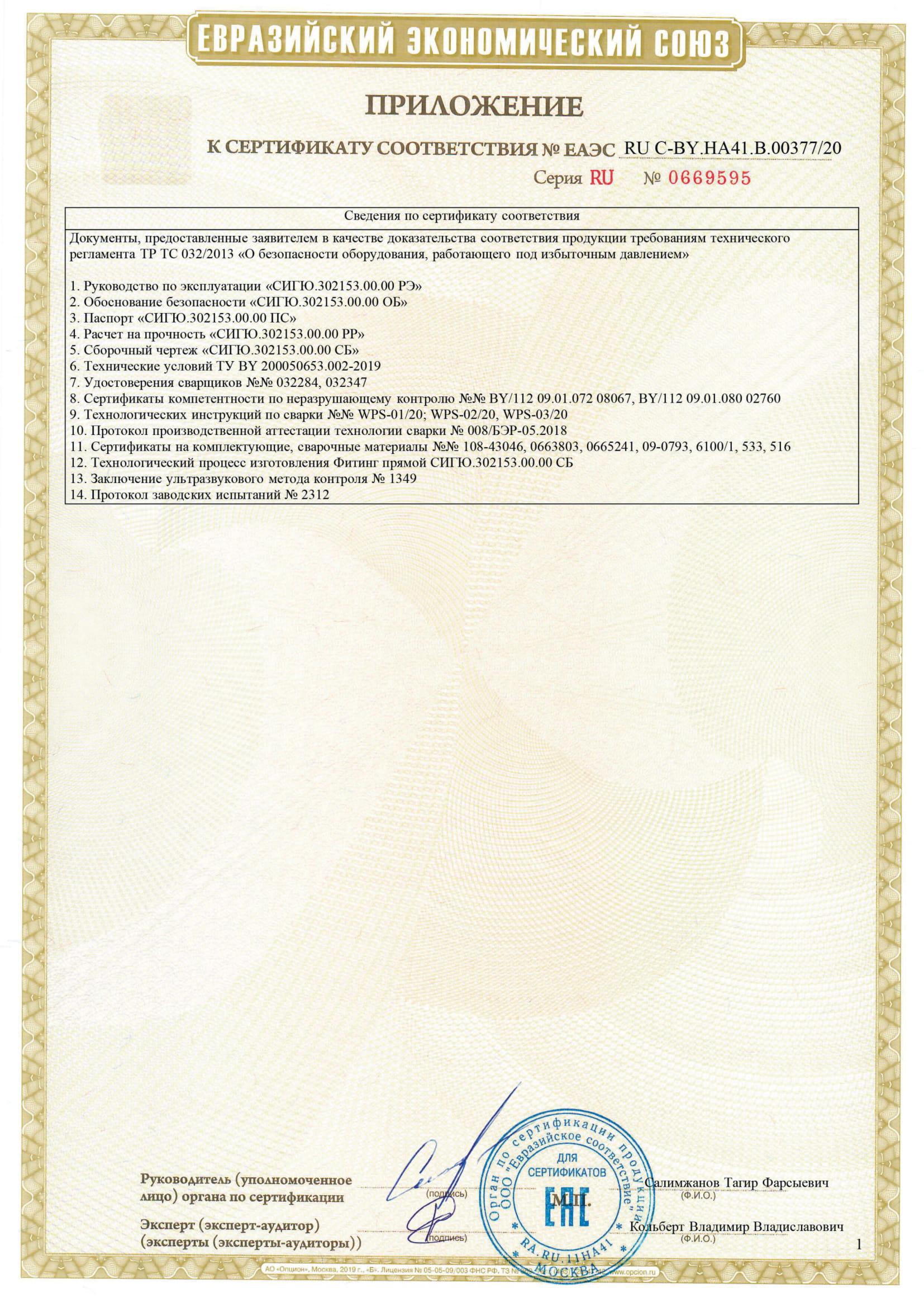 Сертификат фитинги 2