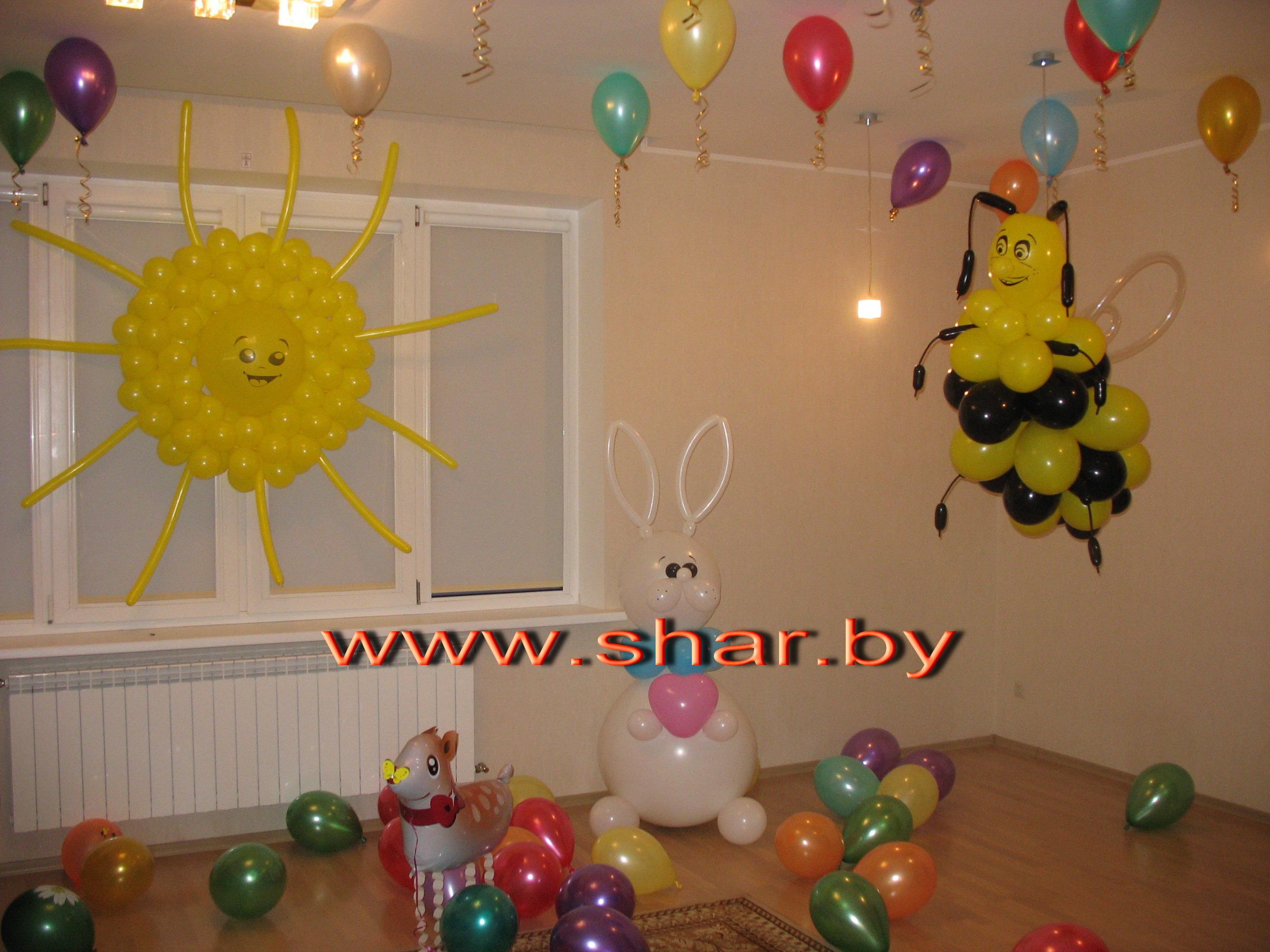 Украшение из шаров на день рождения ребенка своими руками 23